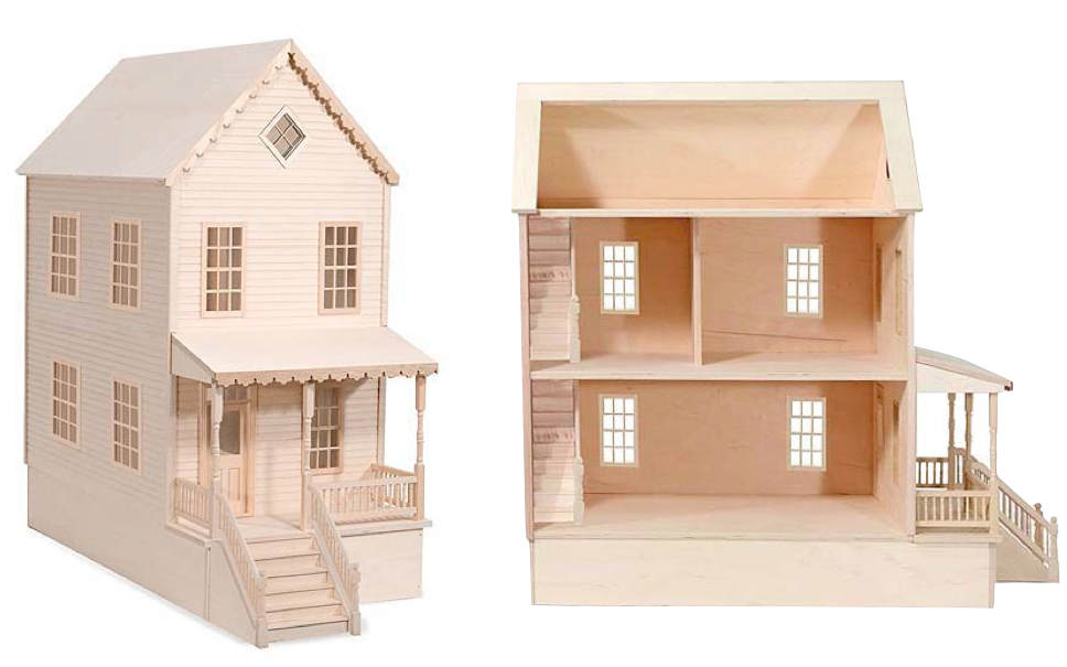 wood dollhouse plans